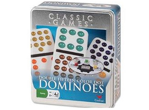 The object of the game is to be the first player to get rid of all  your Dominoes.  Mexican Train the most popular Dominoe game can be played with Double 12 or Double 15 Dominoes.  With 2-4 Players draw 15 tiles out of the bone yard.  Each player starts his own personal train before playing elsewhere.  First player to get rid of their dominoes ends the round and remaining players dominoes score against them.  Repeat the next round with Double 14 and so on until the Double 0 is played. in the final round.  The low score wins.