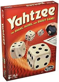 The Shake, Score, and Shout Out dice game.