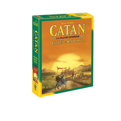 You can settle Catan and use knights to defend your cities against barbarians with up to 6 players.  5-6 players     12+     90-120 min