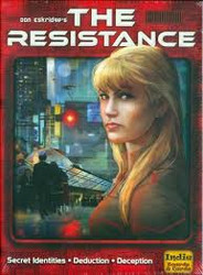 The Resistance is a party game of social deduction. Players are either resistance operatives or Imperial spies. Players must carry out missions against the empire, all while trying to deduce the identities of others. When a team wins three missions they have won the game.  5-10 players     13+     30 min