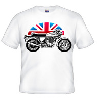 Norton motorcycle tee shirt (flag bike)