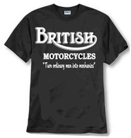British motorcycles mechanics tee shirt