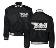 BSA satin jacket (black/white/gunmetal)