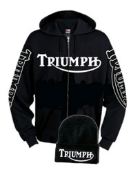 Triumph Zip hoodie (ghost sleeves) with free hat