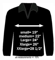 Jacket Sizing (armpit-to-armpit