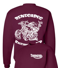Renegades sweatshirt (maroon/white)