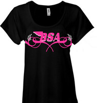 BSA ladies scoop neck tee