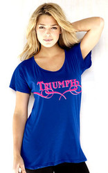 TRIUMPH ladies shirt (floBLUE)