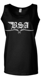 BSA ladies tank top (script/pinstripe)