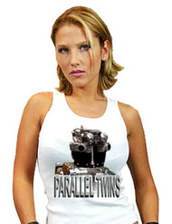 Parallel Twins ladies tank top