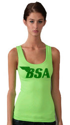 BSA ladies tanktop (Lime/green metalflake)