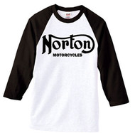 Norton Motorcycle baseball shirt 3/4 sleeve