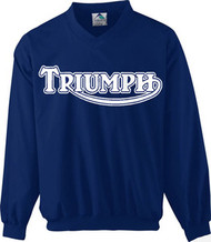 Triumph riding windshirt (navy/white)