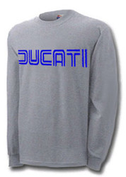 Ducati longsleeve tee shirt (steel/racing blue)