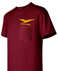 Moto Guzzi Pocket tee (maroon/gold)