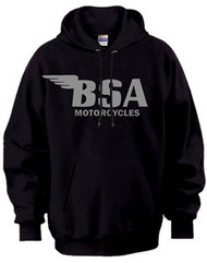BSA motorcycle hooded sweatshirt (gunmetal)