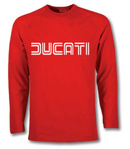 Ducati longsleeve tee shirt (Racing red/white)