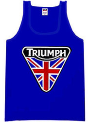 Triumph tank top (nulogo patch design)