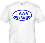 JAWA motorcycle tee (white/blue)