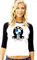 BMW ladies baseball tee
