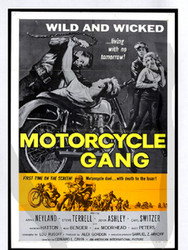 MOTORCYCLE GANG movie poster shirt
