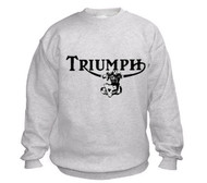 Triumph motorcycle sweatshirt (ash/twin)