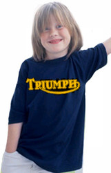 Triumph youth tee (black/gold)