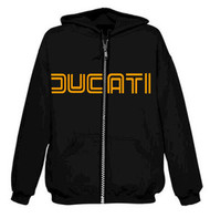 DUCATI zippered hooded sweatshirt