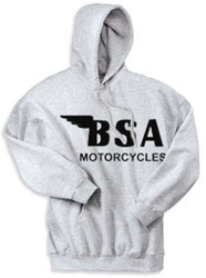BSA motorcycle hooded sweatshirt (ash)