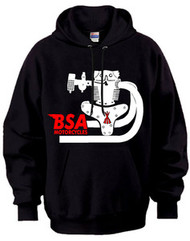 BSA hooded sweatshirt (motor profile)