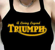 TRIUMPH ladies tank top (blk/gold)
