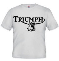 TRIUMPH tee (ash/outlineTWIN)