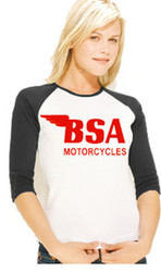 BSA ladies baseball shirt