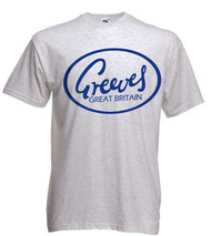 GREEVES Motorcycle tee shirt (ice grey)