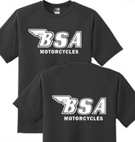 BSA tee shirt (outline style) DBL sided