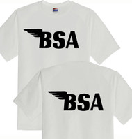 BSA tee shirt (ash/blk) DBL sided