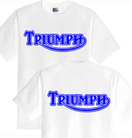 TRIUMPH tee (OL whi/blue) DBL sided
