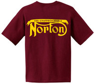 NORTON Unapproachable tee (red/gold)