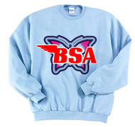 BSA sweatshirt ladies butterfly blue