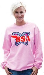 BSA sweatshirt ladies butterfly pink