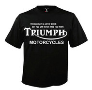 Too many Triumph motorcycles tee shirt