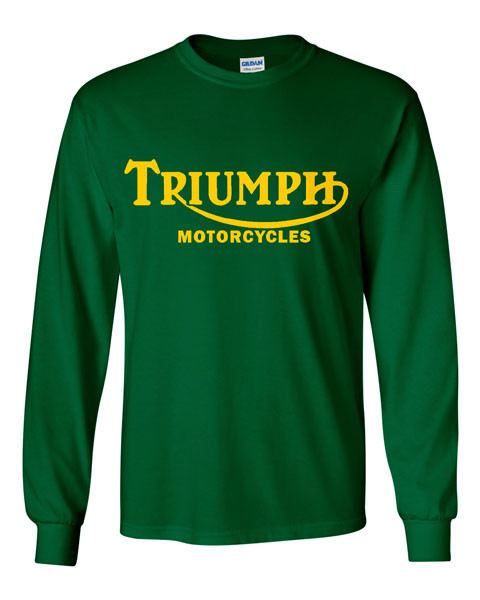 Triumph motorcycle longsleeve shirt, Triumph motorcycle long sleeve