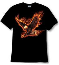 flaming eagle tee