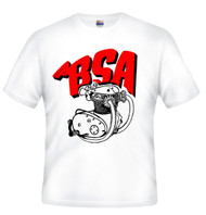BSA motorcycle artwork shirt