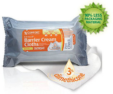 Sage Comfort Shield barrier cream cloths with dimethicone