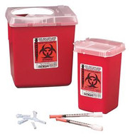 SharpSafety™ Autodrop™ Phlebotomy Container 1 Quart, Red , 100/BX