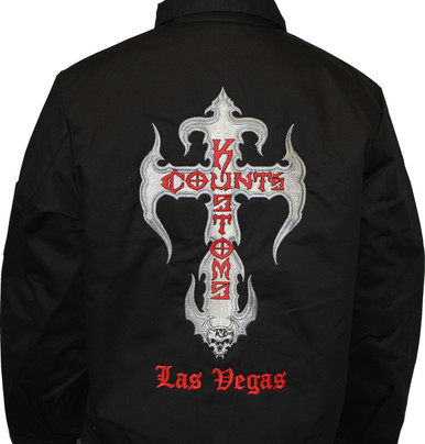 6859b4a7 Embroidered Work Jacket - Black - Seven Clothing Company