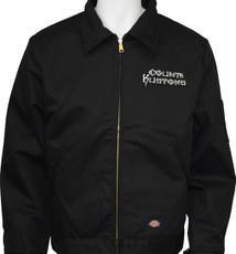 Embroidered Work Jacket - Black