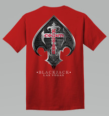 Count's Blackjack Tee - Red