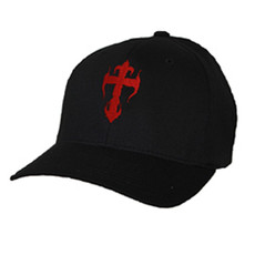 Black Flex-Fit Cap - Red Kross